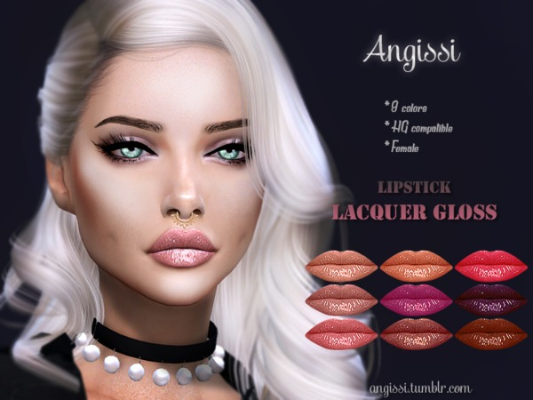 Sims 4 Lacquer gloss by ANGISSI at TSR