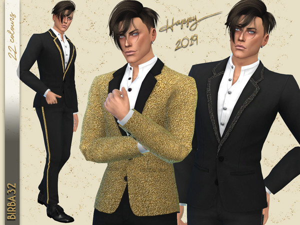 New Year Eve suit by Birba32 at TSR image 2538 Sims 4 Updates