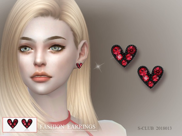 Sims 4 Earrings 201813 by S Club LL at TSR