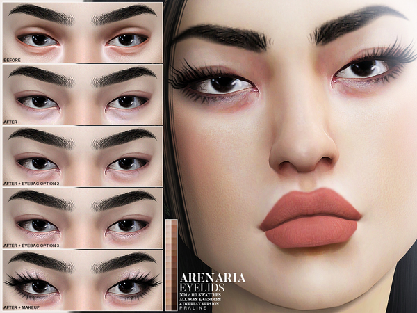 Sims 4 Arenaria Eyelids N01 by Pralinesims at TSR