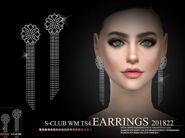 Sims 4 EARRINGS F 201822 by S Club WM at TSR