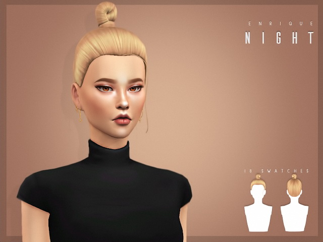 Sims 4 Night Hairstyle at Enriques4