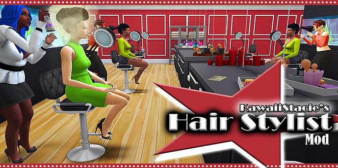 Sims 4 Hair Stylist Mod at KAWAIISTACIE