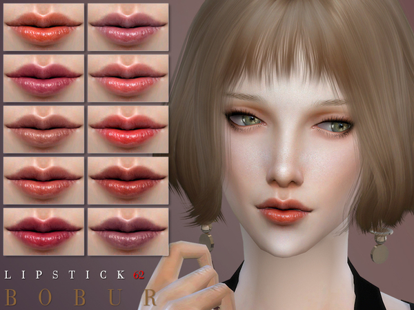 Sims 4 Lipstick 62 by Bobur3 at TSR