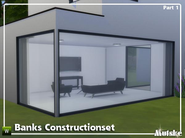 Sims 4 Banks Construction set Part 1 by mutske at TSR