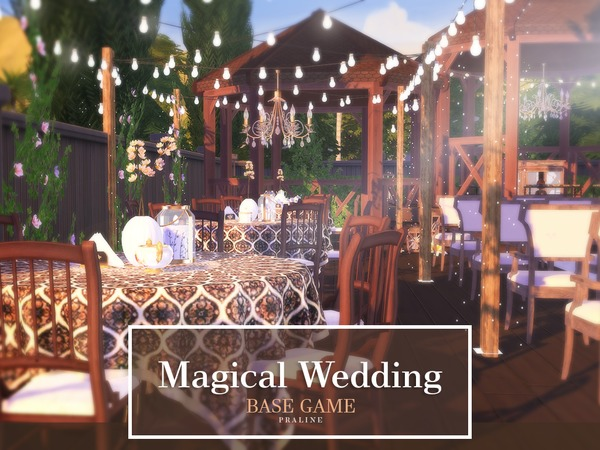 Sims 4 Magical Wedding venue by Pralinesims at TSR