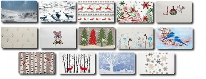 Christmas/Winter Rugs by TaTschu at Blooming Rosy image 301 670x257 Sims 4 Updates