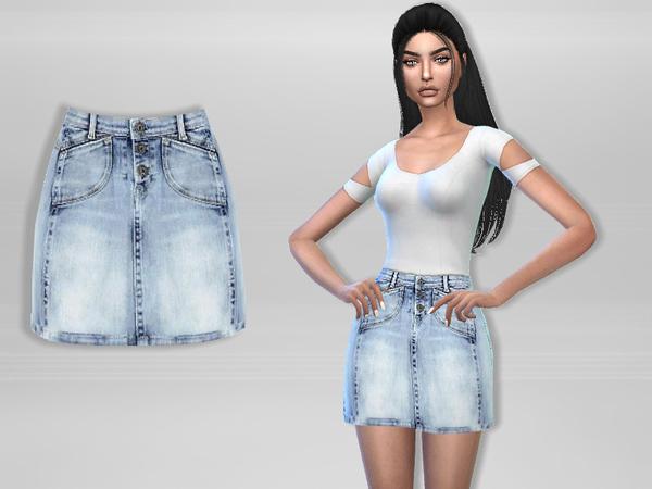 Denim Skirt by Puresim at TSR image 3013 Sims 4 Updates