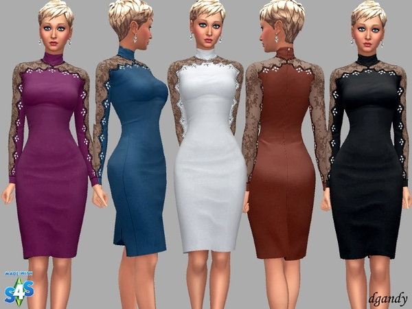 Sims 4 Dress Nina by dgandy at TSR