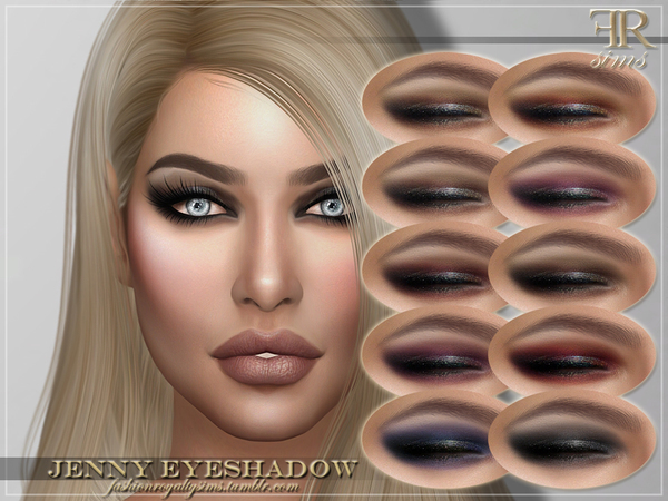 Sims 4 FRS Jenny Eyeshadow by FashionRoyaltySims at TSR