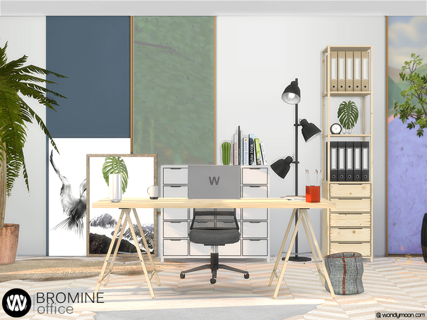 Sims 4 Bromine Office by wondymoon at TSR