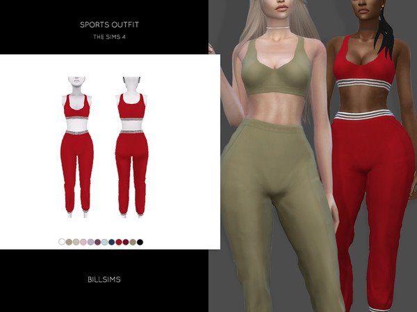 Sims 4 Sports Outfit by Bill Sims at TSR