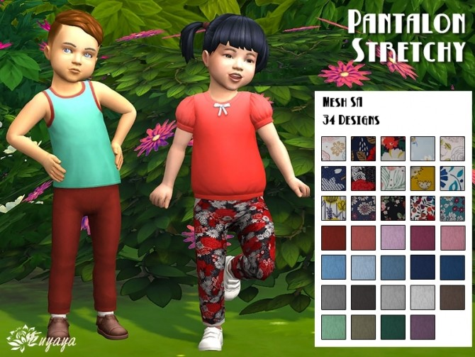 Stretchy pants by Fuyaya at Sims Artists image 3071 670x503 Sims 4 Updates