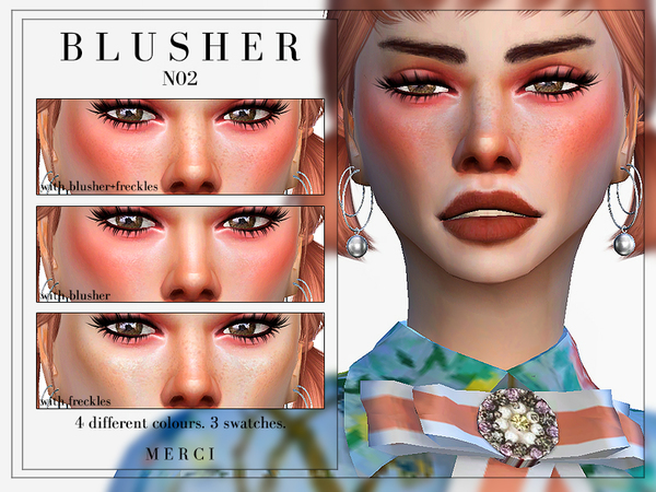 Sims 4 Blusher N02 by Merci at TSR