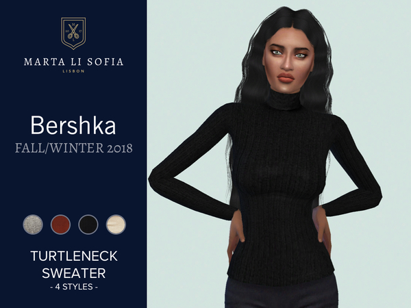 Turtleneck sweater by martalisofia at TSR image 3103 Sims 4 Updates