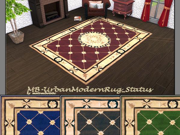 Sims 4 MB Urban Modern Rug Status by matomibotaki at TSR