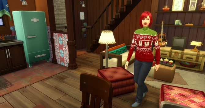 Sims 4 Chalet by Angerouge at Studio Sims Creation