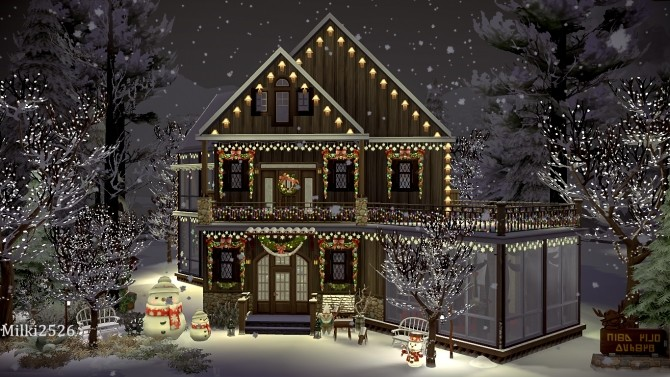 Winter vacation house at Milki2526 image 322 670x377 Sims 4 Updates