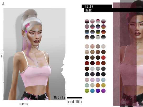 Elle Hair by Leah Lillith at TSR image 3224 Sims 4 Updates