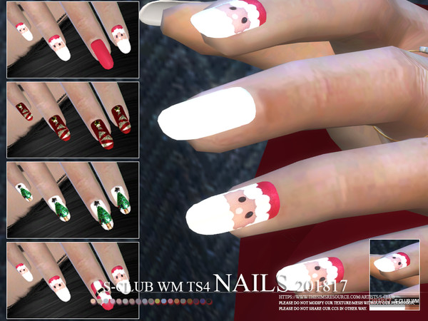 Nails 201817 by S Club WM at TSR image 3225 Sims 4 Updates