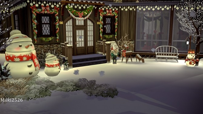 Winter vacation house at Milki2526 image 323 670x377 Sims 4 Updates