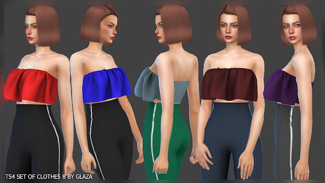 Sims 4 SET OF CLOTHES 8 at All by Glaza