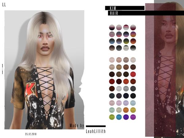 Kim Hair by Leah Lillith at TSR image 3311 Sims 4 Updates