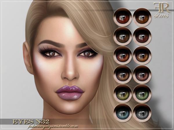Sims 4 FRS Eyes N32 by FashionRoyaltySims at TSR
