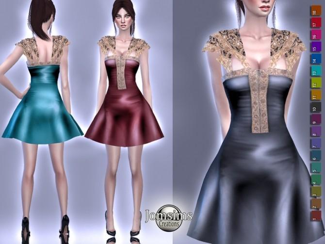 Sims 4 Tarinua dress by jomsims at TSR
