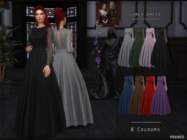 Sims 4 Lurex Dress by OranosTR at TSR