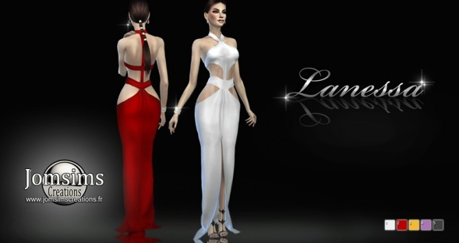Sims 4 Lanessa dress at Jomsims Creations