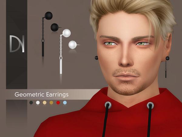 Geometric Earrings by DarkNighTt at TSR image 3323 Sims 4 Updates