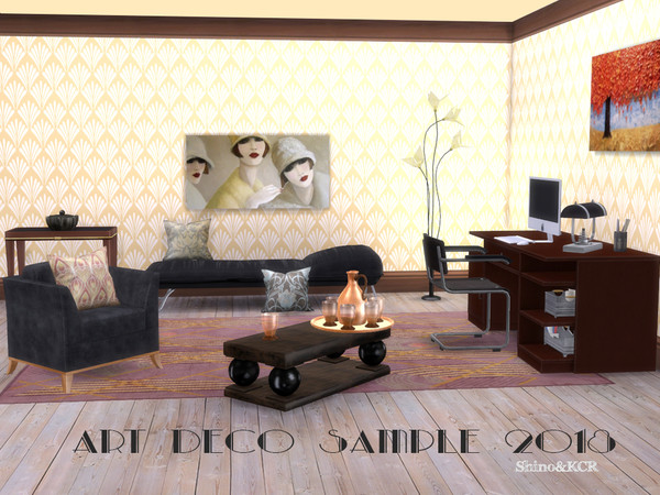Sims 4 Art Deco 18 Home Office by ShinoKCR at TSR