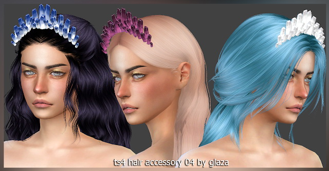 Hair accessory 04 (P) at All by Glaza image 335 Sims 4 Updates