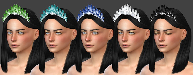 Hair accessory 04 (P) at All by Glaza image 337 Sims 4 Updates