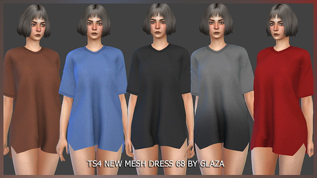 Sims 4 DRESS 68 at All by Glaza