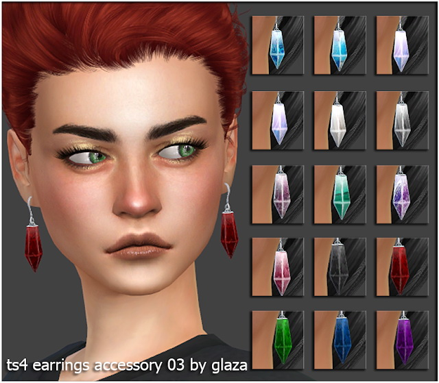 Earrings 03 (P) at All by Glaza image 341 Sims 4 Updates