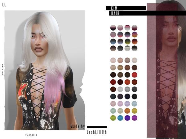 Kim Hair by Leah Lillith at TSR image 3412 Sims 4 Updates