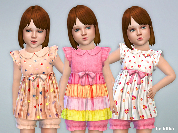 Sims 4 Toddler Dresses Collection P79 by lillka at TSR
