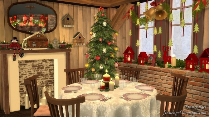 Christmas Flowers Cottage at Frau Engel image 3424 670x377 Sims 4 Updates