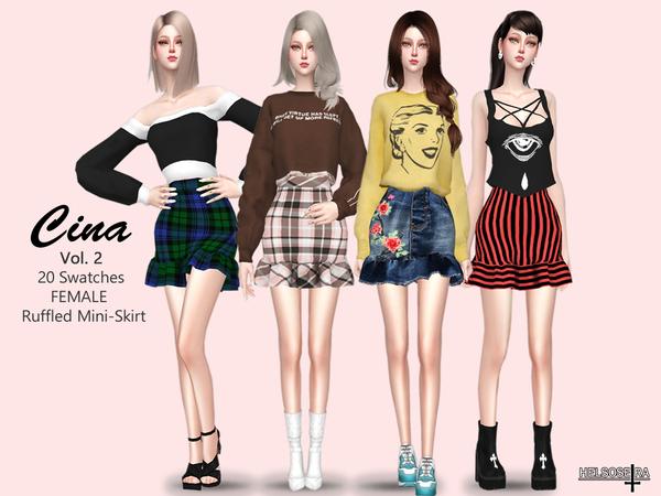 Sims 4 CINA vol. 2 Skirt by Helsoseira at TSR