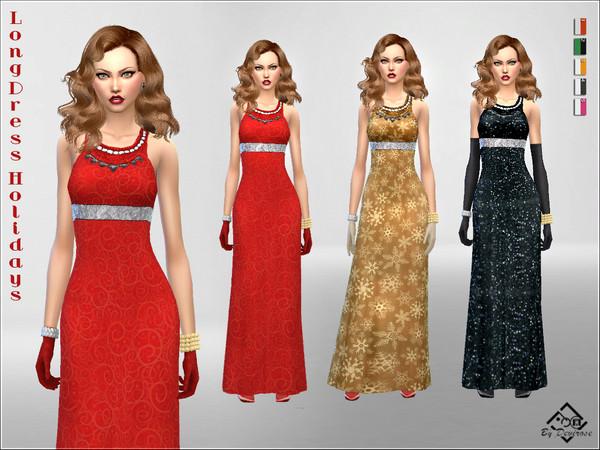 Sims 4 Long Dress Holidays by Devirose at TSR