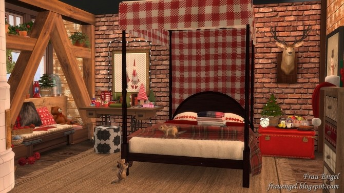 Christmas Flowers Cottage at Frau Engel image 3441 670x377 Sims 4 Updates