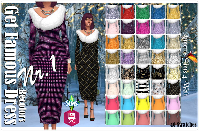 Get Famous Dress Nr. 1 Recolors at Annett's Sims 4 Welt image 345 Sims 4 Updates