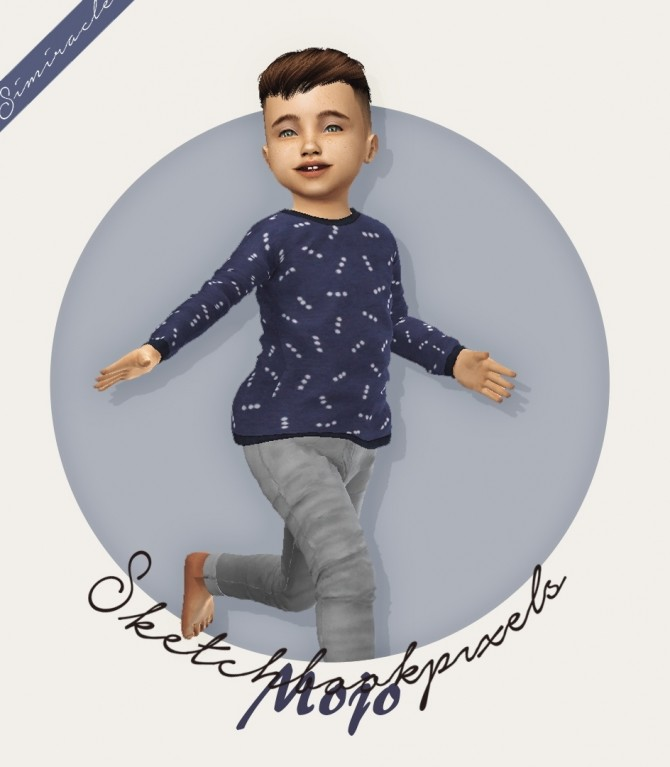 Sims 4 Sketchbookpixels Mojo 3T4 top for toddlers at Simiracle