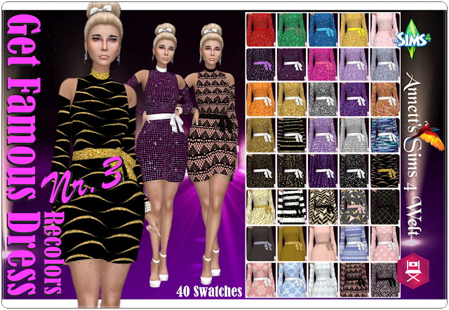 Get Famous Dress Nr. 3 Recolors at Annett's Sims 4 Welt image 349 Sims 4 Updates
