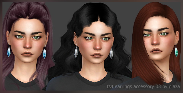 Earrings 03 (P) at All by Glaza image 351 Sims 4 Updates