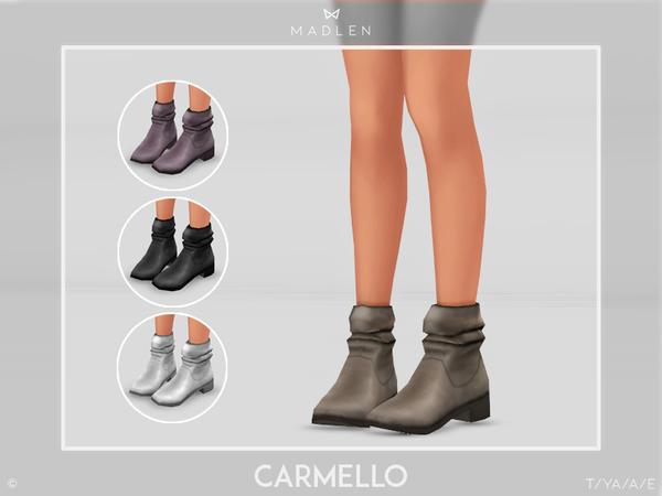 Sims 4 Madlen Carmello Boots by MJ95 at TSR