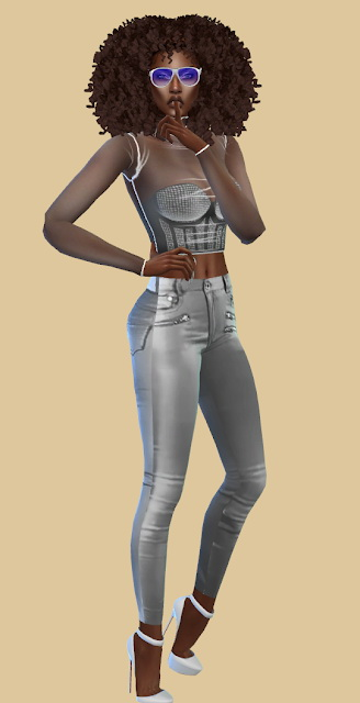 Slipped Leather Pants at Teenageeaglerunner image 3526 Sims 4 Updates