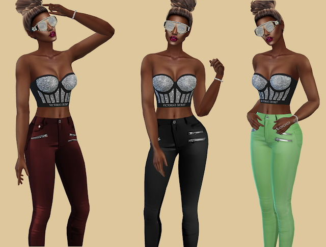 Slipped Leather Pants at Teenageeaglerunner image 3531 Sims 4 Updates